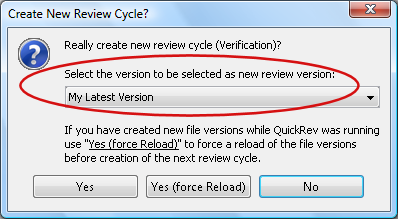 Create New Review Cycle Dialog.